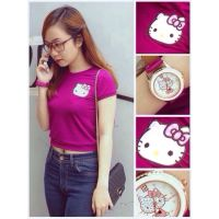[Thảo Nhi Shop Online] Áo crop top logo Kitty Angel Lam