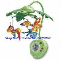 Treo nôi_Fisher-Price Rainforest Peek-A-Boo Leaves Musical Mobile