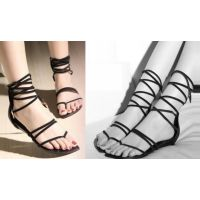 Giày sandals dây cột cao