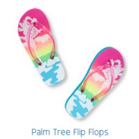 Dép Palm tree flip flop