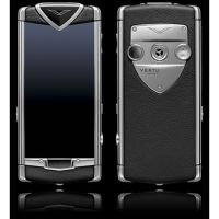 Vertu Ti Polished Black Ceramic, Black Alligator Skin