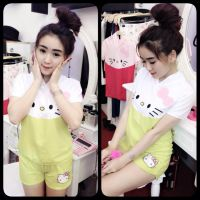 Set kitty nón quần short Sur