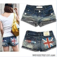 Yumishop - Quần short jeans cờ Anh (MS264)