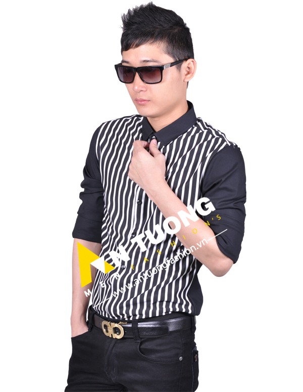 AN TUONG FASHION Ao so mi nam ca ro ke soc don gian kieu han quoc