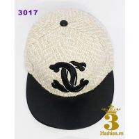 3 Fashion - Nón snapback Chanel vải tweed