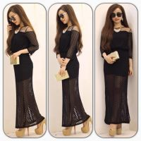 (SHOP TAO ) Đầm maxi ren lưới bi h2 so hot