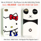 Vỏ Ốp Lưng Case Iphone 4,4s Doremon, Pooh, Chibi, Stitch, Aliens, Chocolate, Hello Kitty, mặt cười Mob, Panda, Chấm Bi, Dots,